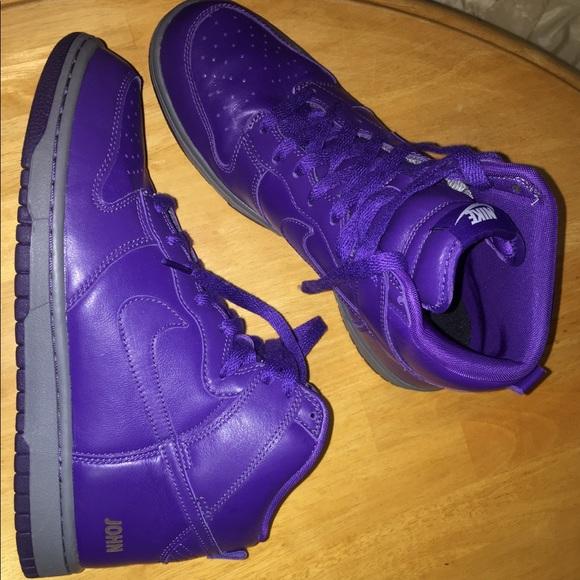 Men's Nike Dunk High Tops iD NEW Purple Shoes